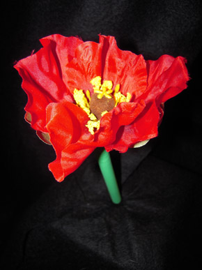 Red Poppy Pen - Katie's Flower Pens