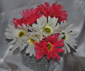 Pink and White Gerbera Daisy Bouquet