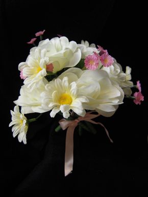 White Rose Cluster Bouquet